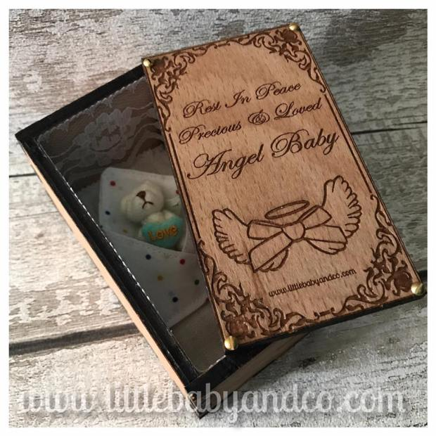 Fetal Coffin With Triangle Angel Wrap